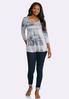 Plus Size High- Low New York Top alternate view