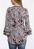 Plus Size Tiered Sleeve Puff Print Top alternate view