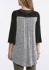 Plus Size Marled Lace Fringe Vest alternate view