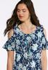 Cold Shoulder Puff Floral Top alternate view
