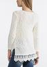 Lace Trim Pullover Sweater alternate view
