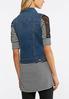 Plus Size Medium Wash Denim Vest alternate view