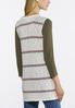 Striped Hacci Knit Vest alternate view
