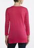 Plus Size Fuchsia Lattice Sleeve Sweater alternate view