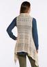 Plus Size Natural Open Stitch Sweater Vest alternate view