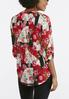 Plus Size Geo Floral Popover Top alternate view