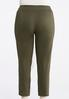 Plus Size Stretch Twill Ankle Pants alternate view