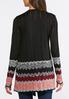 Plus Size Chevron Border Cardigan Sweater alternate view