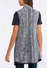 Plus Size Navy Aztec Sweater Vest alternate view