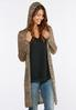Plus Size Marled Hooded Cardigan alternate view
