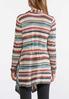 Plus Size Stripe Waterfall Cardigan Sweater alternate view