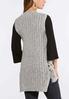 Plus Size Grommet Side Sweater Vest alternate view