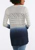 Plus Size Navy Ombre Cardigan Sweater alternate view