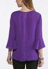 Plus Size Embellished Bell Sleeve Top alternate view