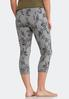 Cropped Gray Floral Leggings alternate view