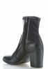 Faux Leather Stretch Ankle Boots alternate view