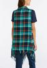 Plus Size Green Plaid Fringe Vest alternate view