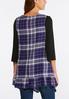 Plus Size Purple Plaid Vest alternate view
