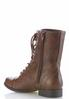 Wide Width Lace Up Combat Boots alternate view