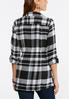 Plus Size Plaid Cinched Back Tunic alternate view