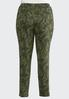 Plus Size Green Paisley Skinny Pants alternate view