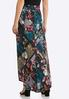 Plus Size Floral Seamed Maxi Skirt alternate view