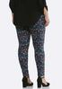 Plus Size Mulberry Floral Leggings alternate view