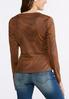 Plus Size Crackle Faux Leather Jacket alternate view