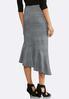 Plus Size Plaid Asymmetrical Skirt alternate view