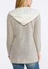 Hooded Marled Cardigan Sweater alternate view