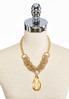 Oversized Stone Pendant Necklace alternate view