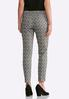 Dotted Plaid Pull- On Pants alternate view