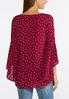 Dotted Extreme Bell Sleeve Top alternate view