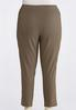 Plus Size Brown Plaid Pull- On Pants alternate view