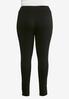 Plus Size Black Jacquard Pull- On Pants alternate view