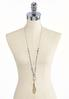Faceted Stone Beaded Pendant Necklace alternate view