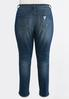 Plus Size Curved Frayed Ankle Jeans alternate view