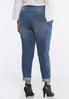 Plus Size Plaid Distressed Jeans alternate view