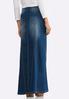 Plus Size Whiskered Denim Maxi Skirt alternate view