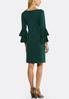 Plus Size Double Ruffle Sweater Dress alternate view