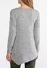 Plus Size Embellished Hacci Knit Top alternate view