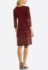 Plus Size Dot Border Sweater Dress alternate view