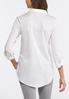 Plus Size White Pullover Tunic alternate view