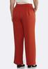 Plus Size Solid Tie Front Pants alternate view