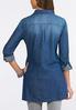 Plus Size Denim Pullover Tunic alternate view