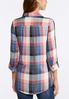 Plus Size Melon Plaid Pullover Shirt alternate view