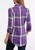 Plus Size Purple Plaid Tunic alternate view