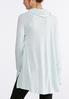 Plus Size Gray Hacci Cowl Neck Tunic alternate view