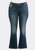 Plus Size Two- Tone Stitch Jeans alternate view