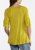 Plus Size Solid Ruffle Sleeve Tee alternate view